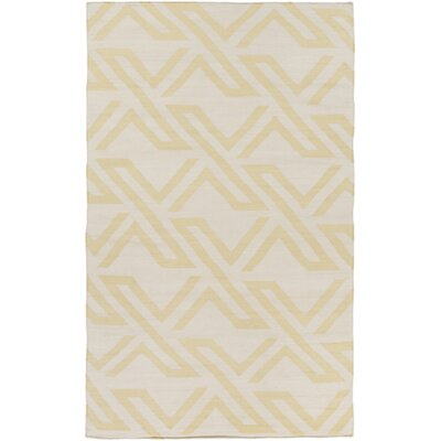 Breece Lime/Ivory Area Rug Rug Size: 4 x 6