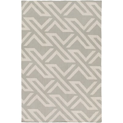 Breece Light Gray/Ivory Area Rug Rug Size: Rectangle 4 x 6