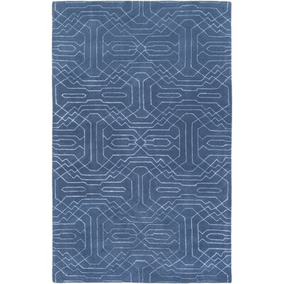 Brey Hand-Tufted Bright Blue Area Rug Rug size: Rectangle 4 x 6