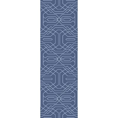 Brey Hand-Tufted Bright Blue Area Rug Rug size: Runner 26 x 8