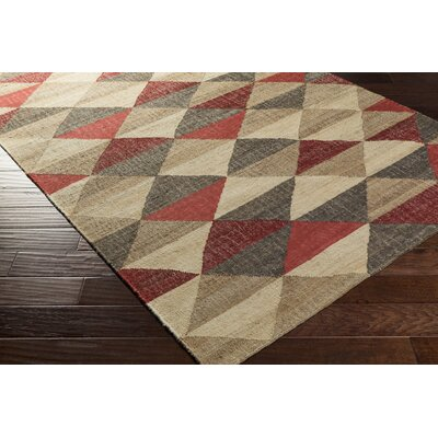 Vasta Hand-Woven Geometric Area Rug Rug size: Rectangle 5 x 76