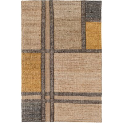 Vasta Modern Hand-Woven Khaki Area Rug Rug size: Rectangle 5 x 76