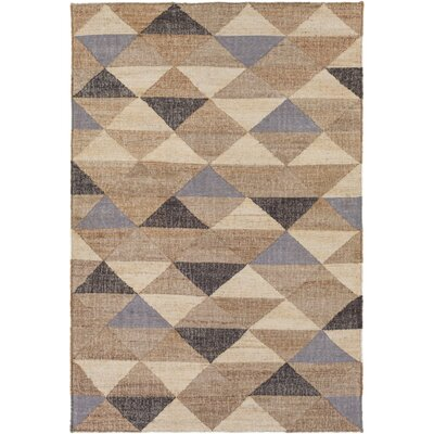 Vasta Hand-Woven Khaki Area Rug Rug size: Rectangle 33 x 53