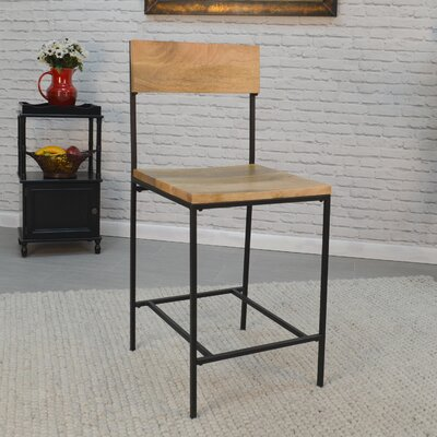 Xenia 24 Bar Stool Finish: Natural Brown