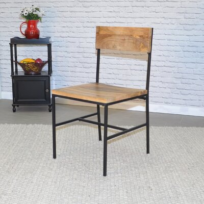 Xenia Side Chair Finish: Natural/Black