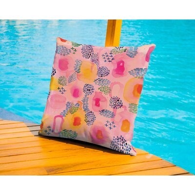 Brennen Water Color Patterns Outdoor Throw Pillow Size: 18 H x 18 W x 2 D