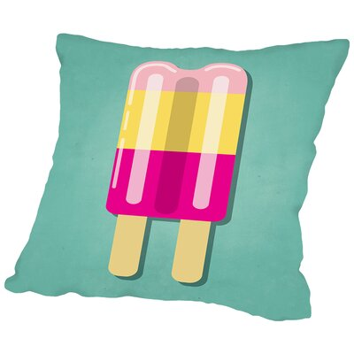 Sweets Popsicle Outdoor Throw Pillow Size: 18 H x 18 W x 2 D