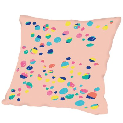 Confetti Print Outdoor Throw Pillow Size: 16 H x 16 W x 2 D