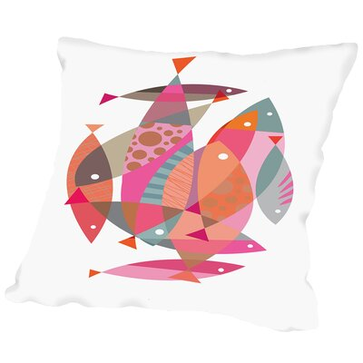 Fish Outdoor Throw Pillow Size: 20