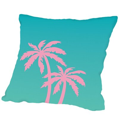 Palm Tree Copy Outdoor Throw Pillow Size: 16 H x 16 W x 2 D