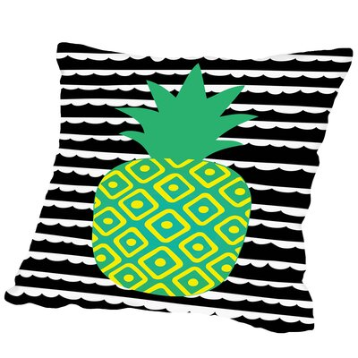 Tropical Pineapple Outdoor Throw Pillow Size: 18