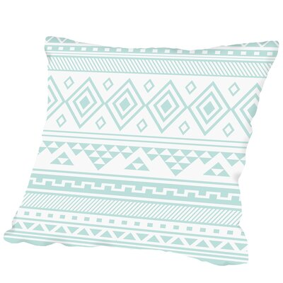 Mint Tribal Outdoor Throw Pillow Size: 18 H x 18 W x 2 D
