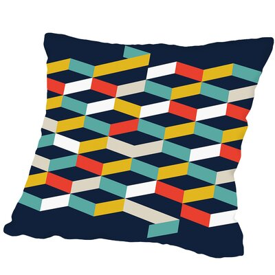 Abstract #2 Outdoor Throw Pillow Size: 18 H x 18 W x 2 D