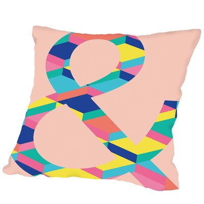 Ampersand on Copy Outdoor Throw Pillow Size: 18 H x 18 W x 2 D