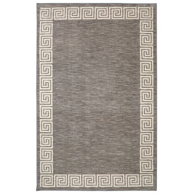 Brauer Gray Area Rug Rug Size: 5 x 8