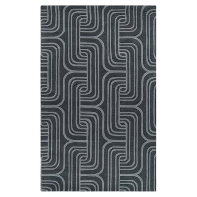 Vaughan Gray Geometric Wool Area Rug Rug Size: Rectangle 33 x 53