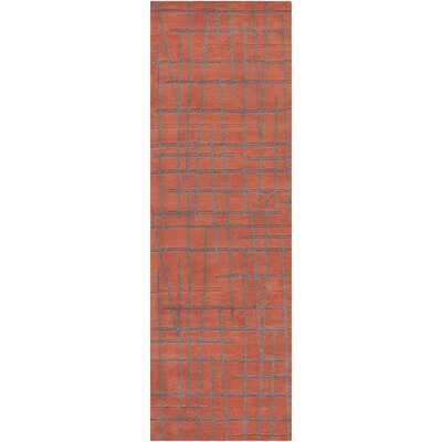 Mckay Red Clay Area Rug Rug Size: 33 x 53