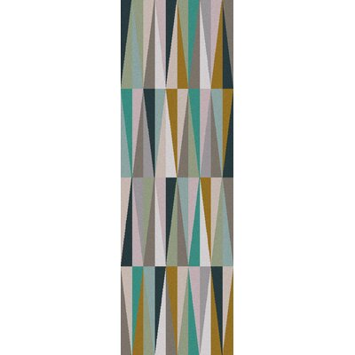 Vaughan Geometric Wool Area Rug Rug Size: Runner 26 x 8
