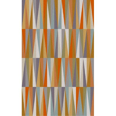 Nealey Orange Area Rug Rug Size: 2' x 3'