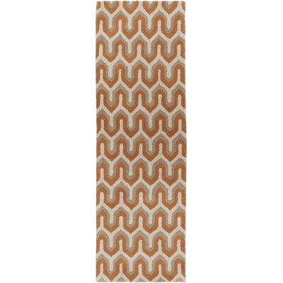 Romola Rust Geometric Area Rug Rug Size: Runner 26 x 8