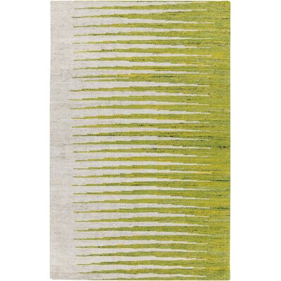 Vaughn Ivory/Lemon Striped Area Rug Rug Size: 5 x 8