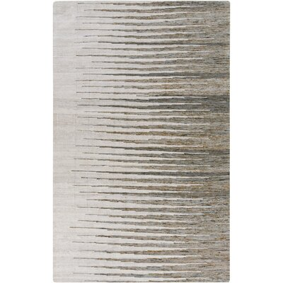Vaughn Hand Woven Cotton Light Gray Area Rug Rug Size: Rectangle 2 x 3