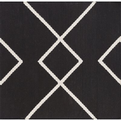 Smyth Hand Woven Cotton Black/White Area Rug Rug Size: Rectangle 4 x 6
