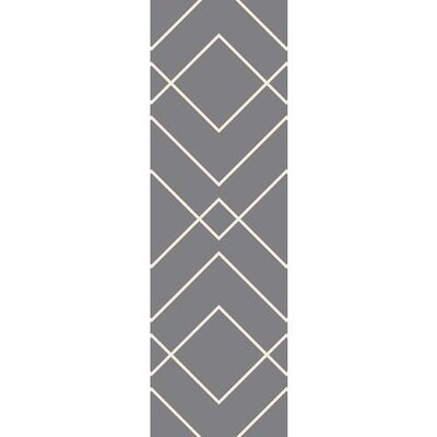 Smyth Gray/Ivory Area Rug Rug Size: Rectangle 6 x 9