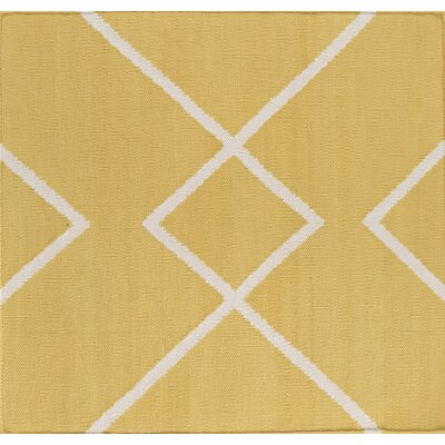 Smyth Gold/Ivory Area Rug Rug Size: Rectangle 6 x 9