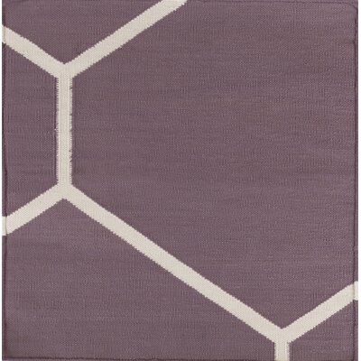 Smyth Eggplant/Ivory Area Rug Rug Size: Rectangle 8 x 10