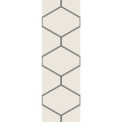 Smyth Light Gray/Charcoal Area Rug Rug Size: 2 x 3