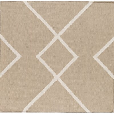 Smyth Taupe/Ivory Area Rug Rug Size: Rectangle 4 x 6