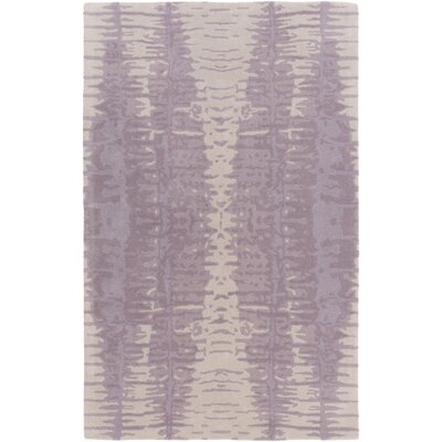 Romola Hand-Tufted Lavender/Light Gray Area Rug Rug Size: 36 x 56