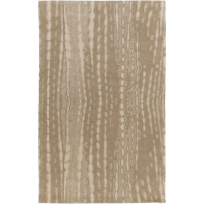Romola Hand-Tufted Khaki Wool Area Rug Rug size: Rectangle 2 x 3