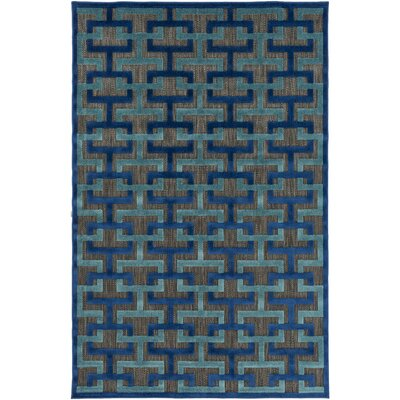 Vaught Black Indoor/Outdoor Area Rug Rug size: Rectangle 39 x 58