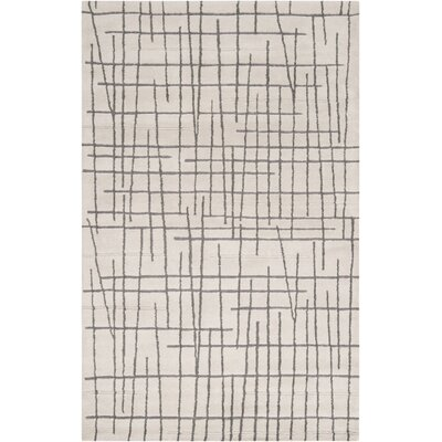 Mckay Hand-Tufted Beige/Medium Gray Area Rug Rug Size: Rectangle 5 x 8