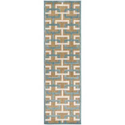 Vaught Tan Indoor/Outdoor Area Rug Rug size: Rectangle 39 x 58