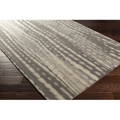 Romola Modern Hand-Tufted Medium Gray Area Rug Rug size: 5 x 8