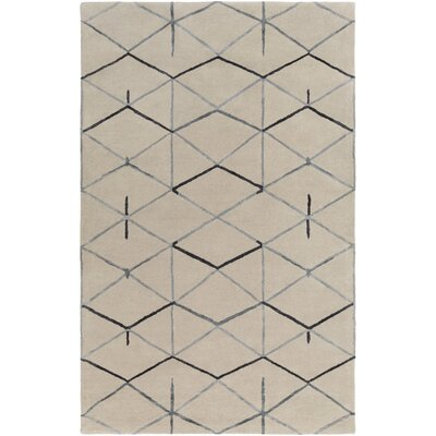 Romola Hand-Tufted Medium Gray Area Rug Rug size: 33 x 53