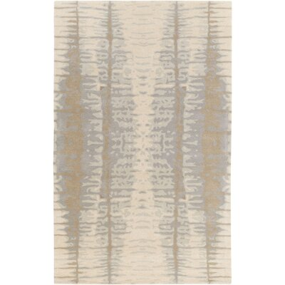 Romola Hand-Tufted Khaki Area Rug Rug size: Rectangle 5 x 8