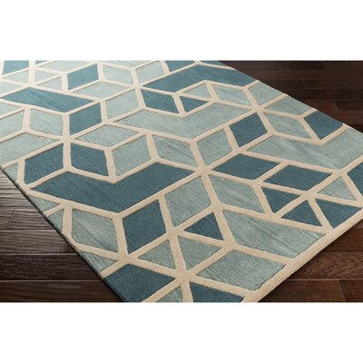 Nealey Hand-Tufted Green/Blue Area Rug Rug Size: 5 x 8