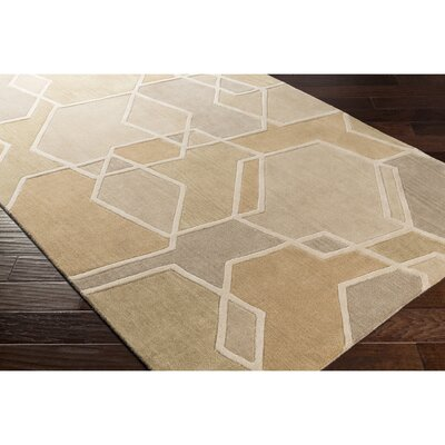 Vaughan Hand-Tufted Green/Brown Area Rug Rug Size: Rectangle 2 x 3