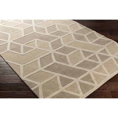Vaughan Hand-Tufted Neutral Area Rug Rug Size: 5 x 8