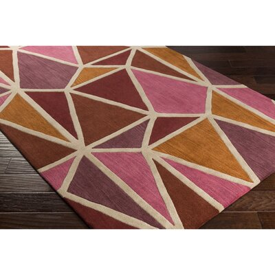 Vaughan Hand-Tufted Pink/Orange Area Rug Rug Size: Rectangle 5 x 8