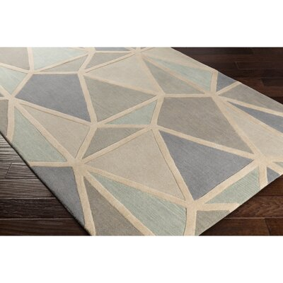 Vaughan Hand-Tufted Neutral/Gray Area Rug Rug Size: 33 x 53