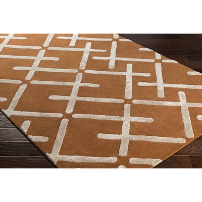 Vazquez Hand-Tufted Orange/Neutral Area Rug Rug Size: Rectangle 8 x 10