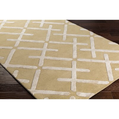 Vazquez Hand-Tufted Rectangle Brown/Neutral Area Rug Rug Size: 8 x 10