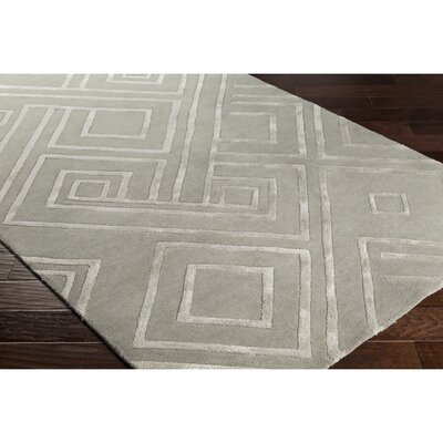 Vazquez Hand-Tufted Geometric Gray Area Rug Rug Size: Rectangle 2 x 3