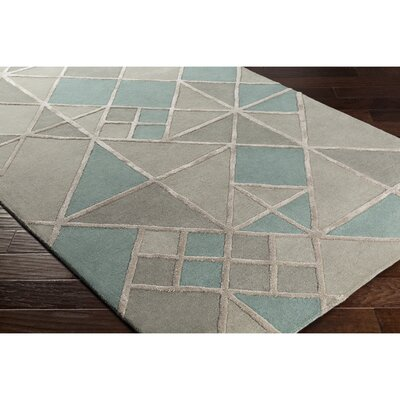Vazquez Hand-Tufted Gray Wool Area Rug Rug Size: Rectangle 5 x 76
