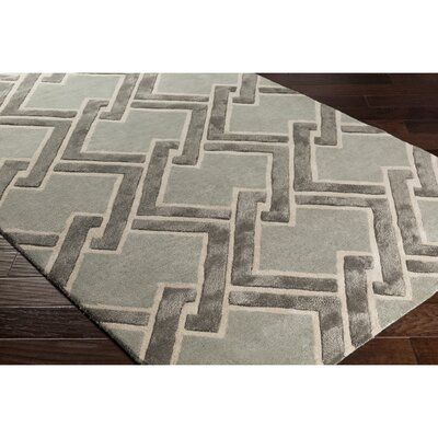 Vazquez Hand-Tufted Gray/Neutral Area Rug Rug Size: Rectangle 5 x 76
